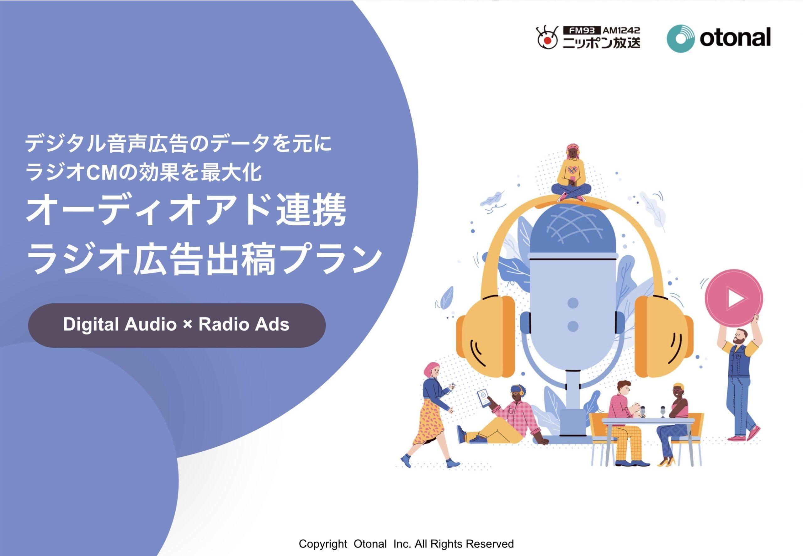 オーディオアド連携ラジオ広告出稿プラン
